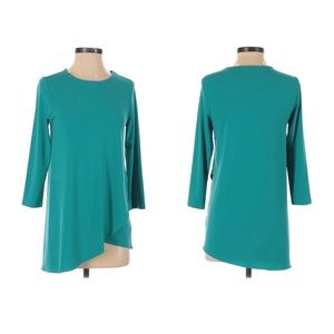 The Limited asymmectrical teal top size XS